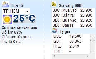 Code lấy thời tiết từ vnexpress