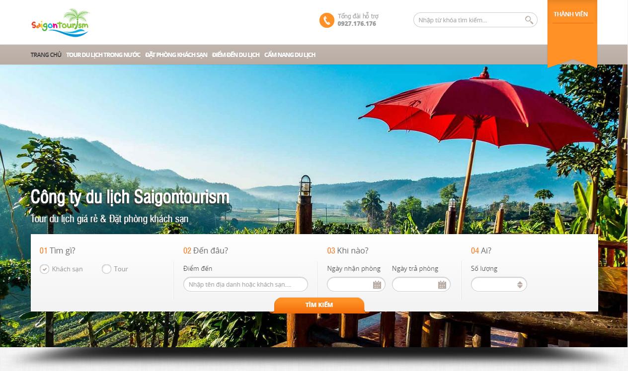 Lựa chọn công ty thiết kế website du lịch tại Hà Nội