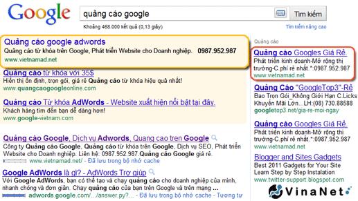 Quảng cáo Google Adwords sẽ xuất hiện ở đâu?