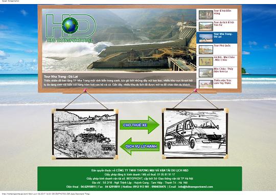 Các dự án website du lịch Tam Nguyên đã thiết kế