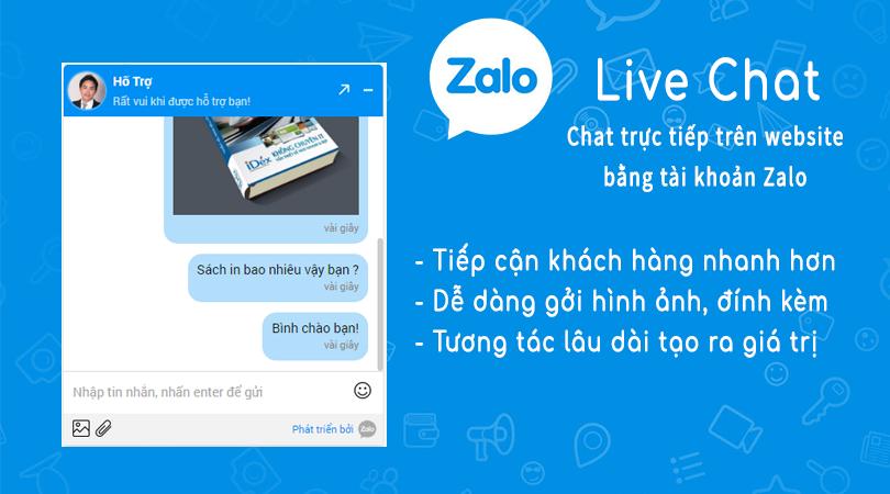 Hướng dẫn tích hợp chat Zalo vào website