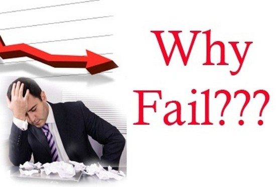 Lý do thất bại của các công ty hoạt động trên web