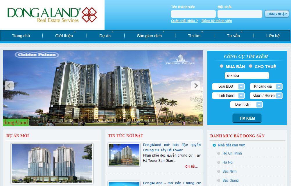 Thiết kế website bất động sản ấn tượng
