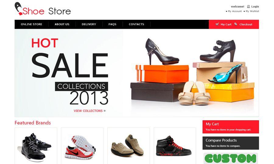 Thiết kế website bán hàng giày dép cao cấp