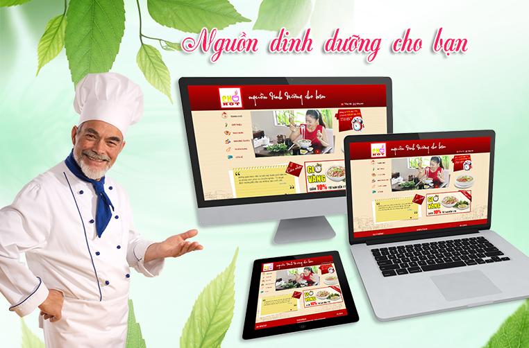 thiết kế website nhà hàng đẹp thu hút khách hàng
