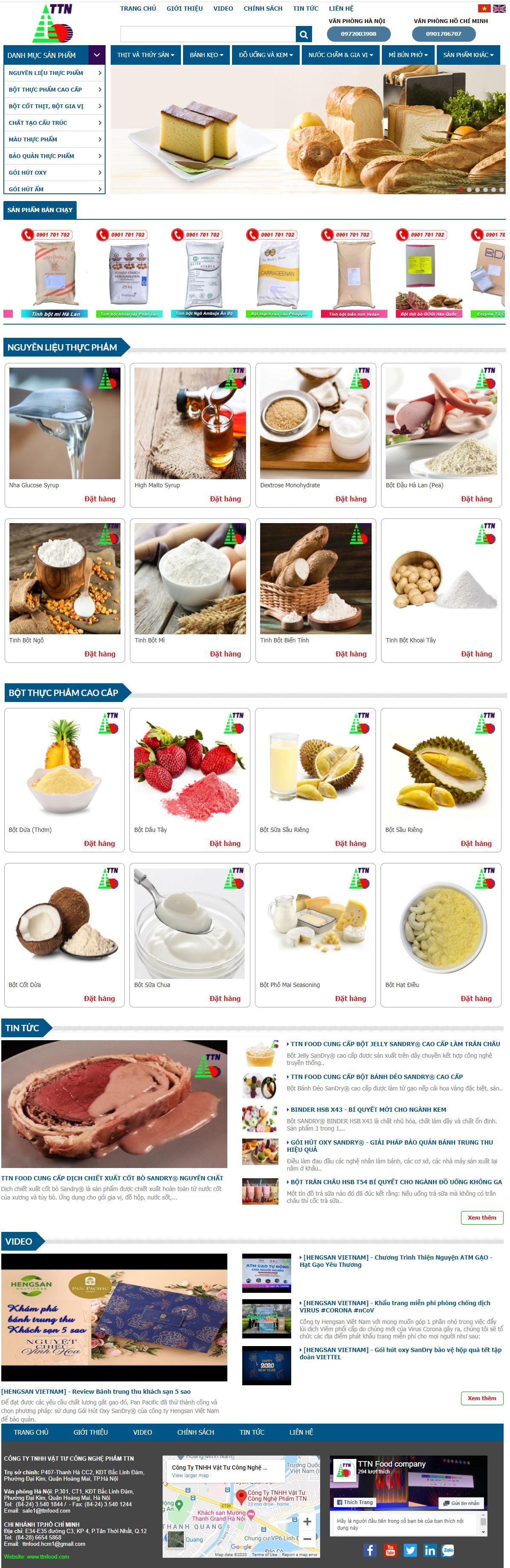 Thiết kế website bán hàng TTN FOOD