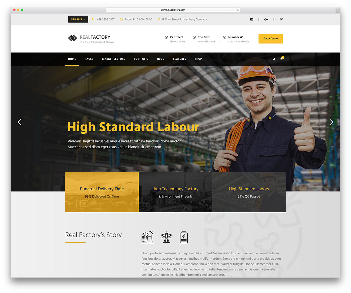 Mẫu thiết ké website dây dựng đẳng cấp mới cập nhật 1