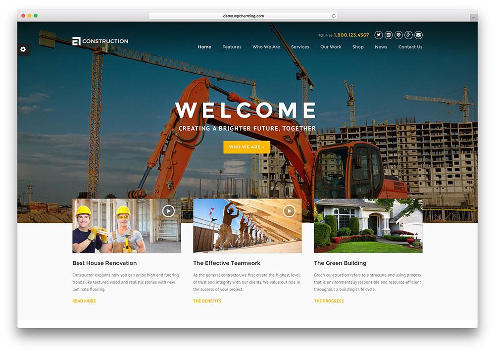 Mẫu thiết ké website dây dựng đẳng cấp mới cập nhật 3