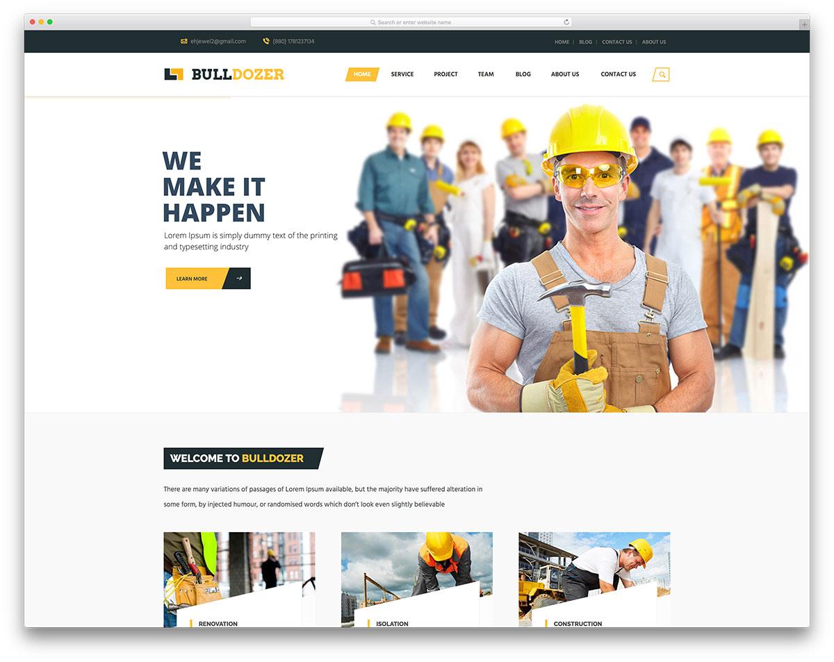 Mẫu thiết ké website dây dựng đẳng cấp mới cập nhật 4
