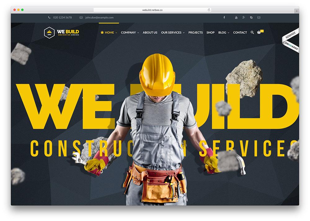 Mẫu thiết ké website dây dựng đẳng cấp mới cập nhật 5