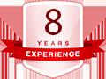 8 năm kinh nghiệm thiết kế website